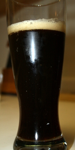 Our first attempt at a home brew. It's a hoppy porter with a couple flaws.
